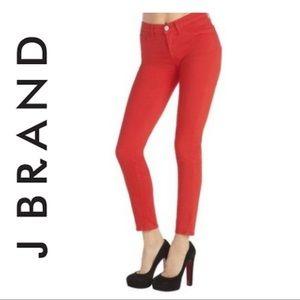 J Brand Red Skinny Jeans